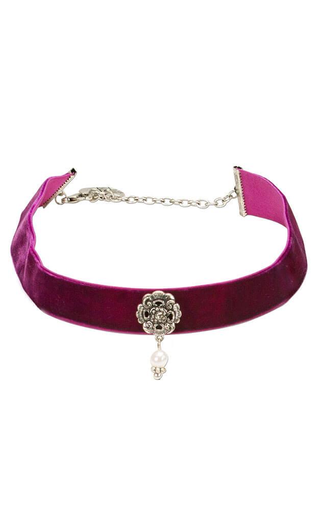 Trachtenschmuck Dirndlschmuck Kropfband Kropfkette Trachtenkette Violett Flieder